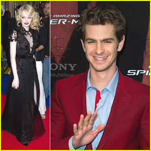 Emma Stone & Andrew Garfield: 'Spider-Man' in Paris