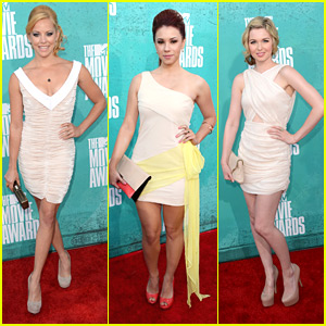 Kirsten Prout &#038; Jillian Rose Reed -- MTV Movie Awards 2012