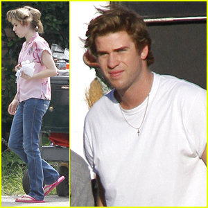 Emma Roberts & Liam Hemsworth: 'Empire State' Set
