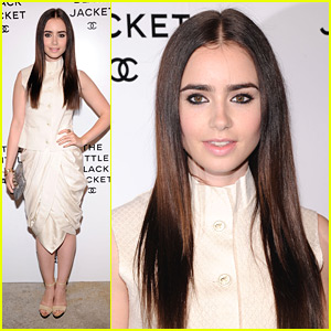 Lily Collins: Chanel 'Little Black Jacket' Event