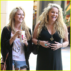 Tiffany Thornton: Cheesecake Factory with Cassie Scerbo