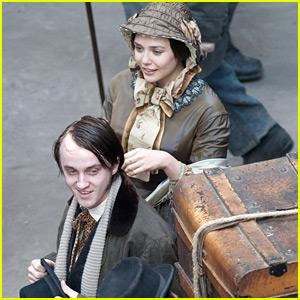 Tom Felton: 'Therese Raquin' Set with Elizabeth Olsen