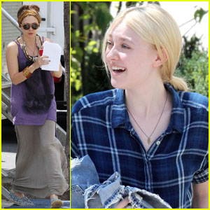 Dakota Fanning & Elizabeth Olsen: 'Very Good Girls' Set Pics!
