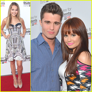 Debby Ryan &#038; Spencer Boldman: Staples School Supply Drive!