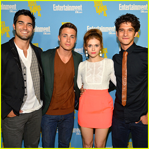 Holland Roden &#038; Tyler Posey: Comic Con Party with Colton Haynes &#038; Tyler Hoechlin!