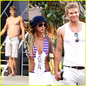Kellan Lutz: Saint Tropez with Sharni Vinson