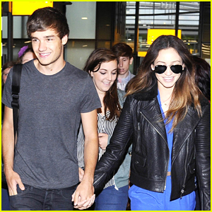 Liam Payne & Danielle Peazer: Holding Hands at Heathrow