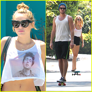 Miley Cyrus &#038; Liam Hemsworth: Skateboarding Sunday