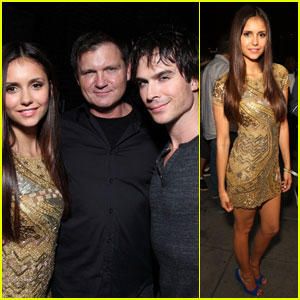 Nina Dobrev &#038; Ian Somerhalder: Comic Con Samsung Party