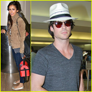 Nina Dobrev &#038; Ian Somerhalder: LAX Pair
