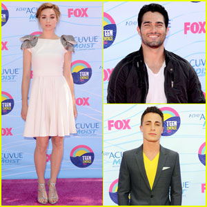 Crystal Reed, Colton Haynes & Tyler Hoechlin - Teen Choice Awards 2012