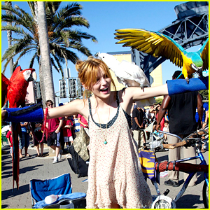 Bella Thorne: Birds on the Beach!