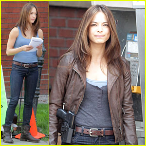 Kristin Kreuk: 'Beauty & The Beast' On Set Pics