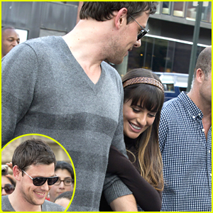 Lea Michele &#038; Cory Monteith: 'Glee' Set Sweeties