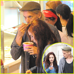 Lily Collins &#038; Jamie Campbell Bower: Yoco Froyo!