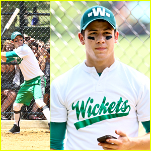 Nick Jonas: Wickets Softball Playoffs in NYC