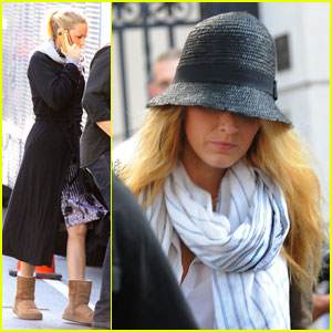 Blake Lively: Post-Wedding Sighting on 'Gossip Girl' Set!