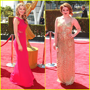 Bridgit Mendler & Jennifer Stone: Creative Arts Emmys 2012