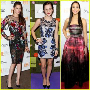 Jennifer Lawrence, Kristen Stewart & Emma Watson: TIFF Besties