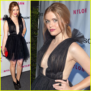 Holland Roden: Nylon Dinner Night