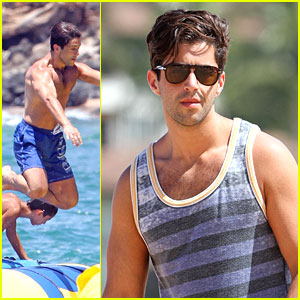Josh Peck: Trampoline Dive in Hawaii