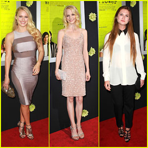 Erin Wilhelmi: 'Perks' Premiere with Leven Rambin & Bonnie Wright