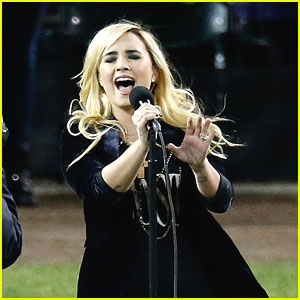 Demi Lovato Sings National Anthem at World Series 2012 - Watch Now!
