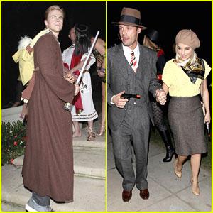 Julianne Hough & Ryan Seacrest: Bonnie & Clyde For Halloween!