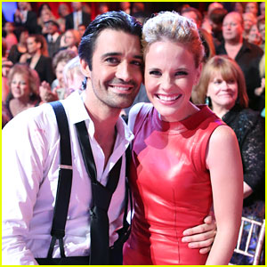 Katie Leclerc Supports Gilles Marini on 'Dancing With The Stars'