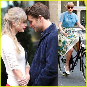 Taylor Swift: 'Begin Again' Video Shoot in Paris