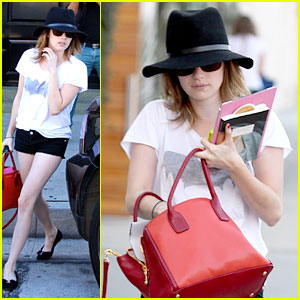 Emma Roberts: Red Purse Pretty