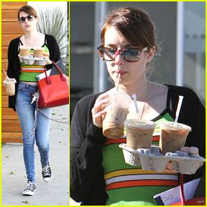 Emma Roberts: Iced Coffee Pick Up