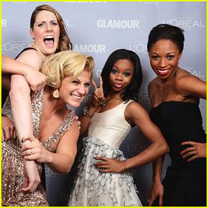 Gabby Douglas & Missy Franklin: Glamour Women of the Year Awards