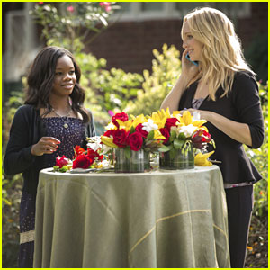 Gabby Douglas Guests on 'Vampire Diaries' -- Pics & Clips!