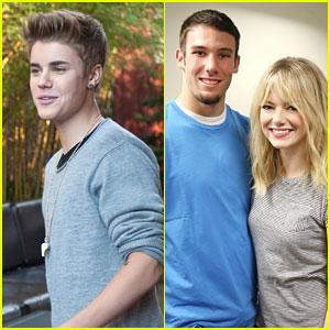 Emma Stone & Justin Bieber Honor Halo Award Winners 2012