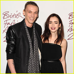 Lily Collins &#038; Jamie Campbell Bower: British Fashion Awards 2012
