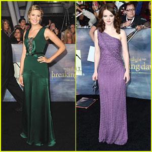 Maggie Grace & Marlane Branes: 'Breaking Dawn' Premiere Pair