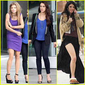 Jessica Lowndes: '90210' Set with AnnaLynne McCord & Shenae Grimes!