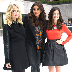 Lucy Hale & Shay Mitchell: ABC Family's Winter Wonderland with Ashley Benson!