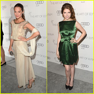 Anna Kendrick &#038; Alicia Vikander: Art of Elysium's Heaven Gala 2013