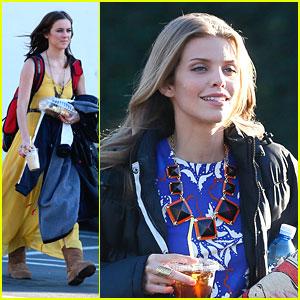 Jessica Stroup & AnnaLynne McCord: '90210' Set Snacks