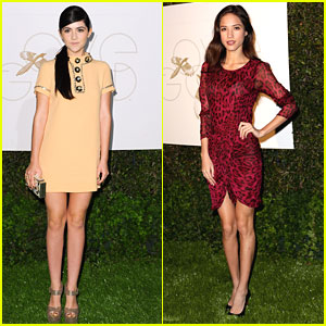Isabelle Fuhrman & Kelsey Chow: LoveGold Party Pair