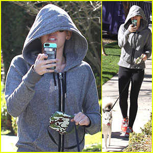 Miley Cyrus Walks The Dogs
