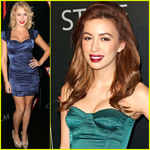 Renee Olstead &#038; Christian Serratos: '30 Years Of Fashion and Film' Red Carpet