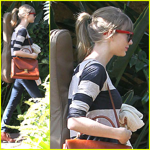 Taylor Swift: Back In The Studio After BRIT Nomination