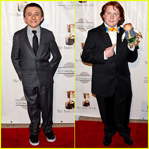 Atticus Shaffer & Tucker Albrizzi: Annie Awards 2013