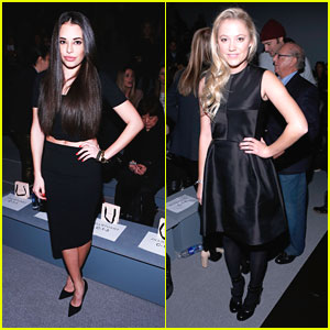 Chloe Bridges & Maika Monroe: Front Row for Jill Stuart Fashion Show
