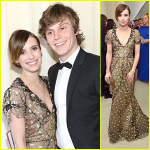 Emma Roberts & Evan Peters: Elton John Oscars Party Pair