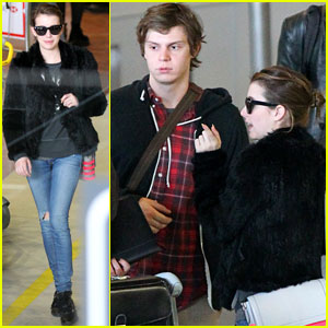 Emma Roberts & Evan Peters: Paris Arrival!