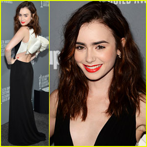 Lily Collins: Costume Designer Guild Awards 2013